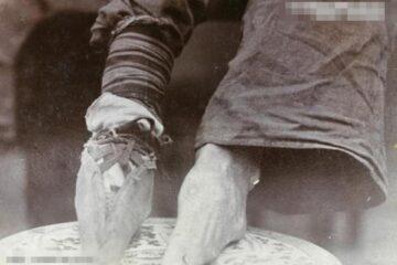 山东式弓鞋和小脚